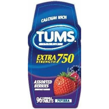 Tums Calcium Rich Extra Strength 750 - Assorted Berry - 116 Tablets