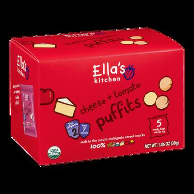 Ella's Kitchen Puffits Cheese + Tomato - 5 CT