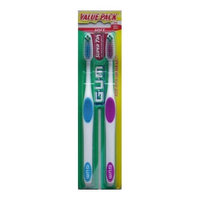 GUM Toothbrush, Full Head, Soft - 2 pk