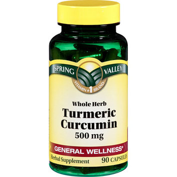 Spring Valley 90 Capsules 500 mg Ea. Turmeric Herbal Supplement 90 ct