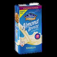Blue Diamond Almonds Almond Breeze Almondmilk Vanilla Unsweetened