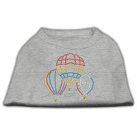Mirage Pet Products 5239 LGGY Hot Air Balloon Rhinestone Shirts Grey L 14