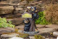 Codco Nursery CODCO NURSERY Bears On Tree Solar Welcome Statue - CODCO NURSERY