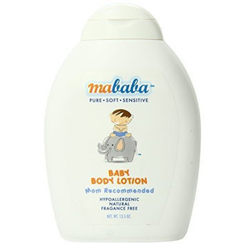 Mababa Baby Body Lotion, 13.5-Ounce (Pack of 2)