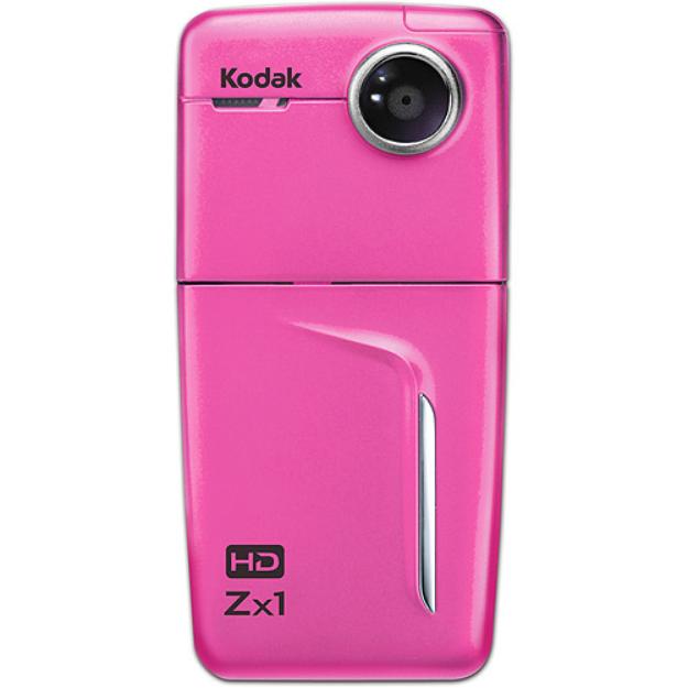 Kodak Zx1 Pink Pocket Video Camera with 2.4
