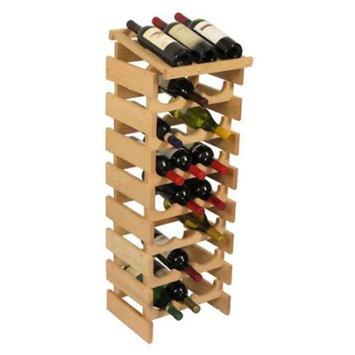 Wooden Mallet WRD37UN 24 Bottle Dakota Wine Rack with Display Top