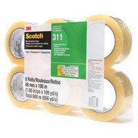 SCOTCH 311 PK6 Carton Sealing Tape, Clear,109 yd. L,PK6