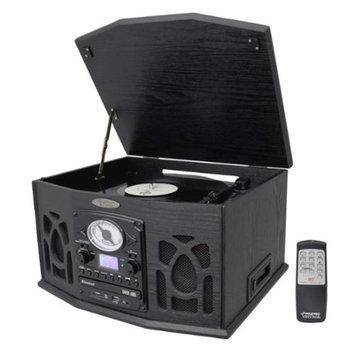 Pyle Vintage Turntable With CD/Cassette/Radio/Aux-In/USB/SD/MP3 and Vinyl-to-MP3 Encoding