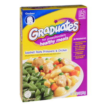 Gerber® Graduates for Preschoolers Seashell Pasta Primavera & Chicken Healthy Meals