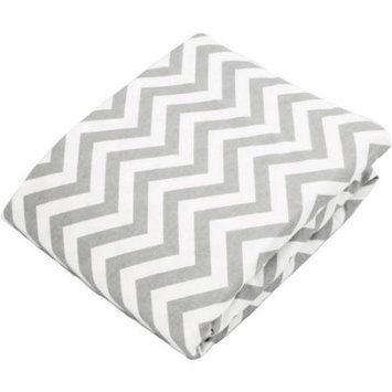 Kushies Baby Change Pad Fitted Sheet Grey Chevron