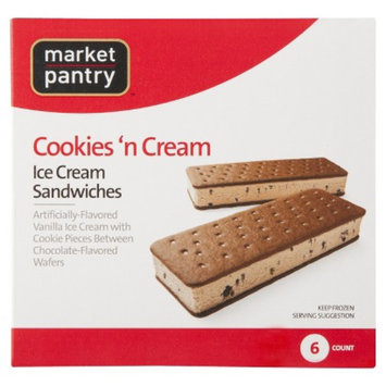 market pantry Market Pantry Cookies & Cream Ice Cream Sandwich 6 pack
