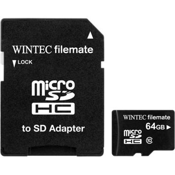 Wintec FileMate 64GB microSDXC Card with SD Adapter Class 10