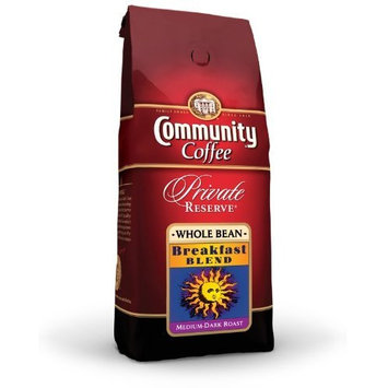 Community Coffee Private Reserve Ground Coffee, Breakfast Blend, 12-Ounce Bags (Pack of 3)