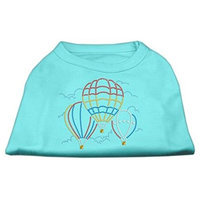 Mirage Pet Products 5239 XXXLAQ Hot Air Balloon Rhinestone Shirts Aqua XXXL 20