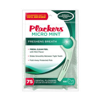 Plackers Flossers - Micro Mint - 75 ct