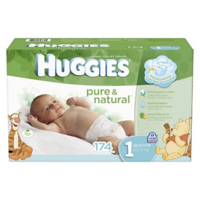 Huggies Pure & Natural HUGGIES Pure & Natural Diapers Mega Colossal Pack - Size 1 (174 count)