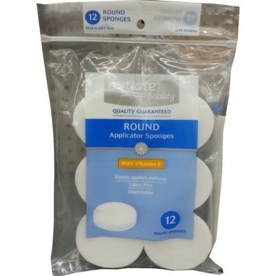 Equate Beauty Round Applicator Sponges, 12 count
