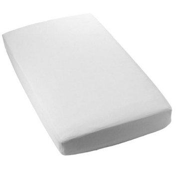 Royal Heritage Secure-Fitting White Crib Sheet - Set of 2