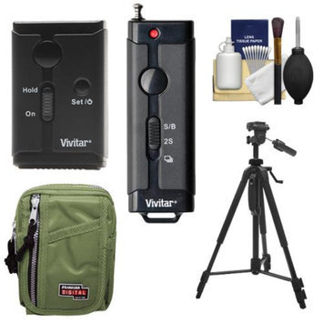 Vivitar Universal Wireless and Wired Shutter Release Remote Control with Travel Case + Tripod + Accessory Kit for Canon EOS Digital SLR Cameras