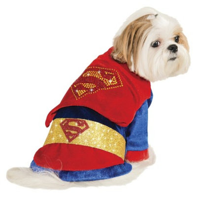 DC Comics Superman with Rhinestones Pet Costume - XS