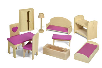 Fortune East Usa Llc Fortune East Dollhouse Furniture - 10 pc. Set