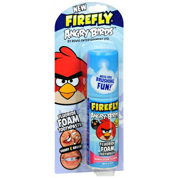 Firefly Kids! Squirt & Brush Fluoride Foam Toothpaste Bubblegum