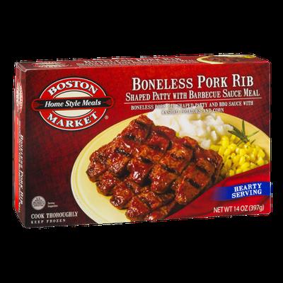 Boston Market Boneless Pork Rib With Mashed Potatoes & Corn