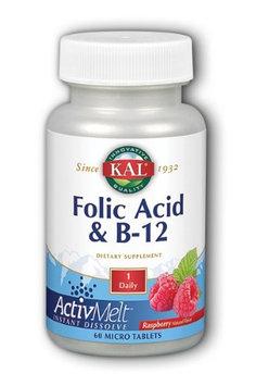 Folic Acid & B-12 ActivMelt (Raspberry) Kal 60 Tabs