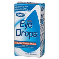 Family Eye Drops, Advanced Formula, 0.5-Ounce Bottles (Pack of 24)