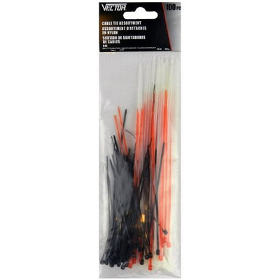 Vector 3 Size 3 Color 100 Piece Assorted Cable Ties