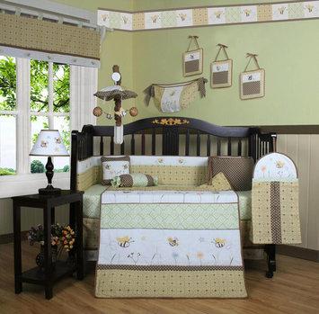 Geenny GEENNY Bumble Bee 13PCS Crib Bedding Set