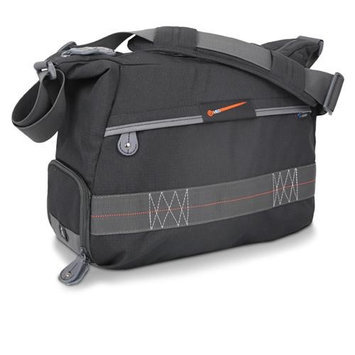 Vanguard VEO 37 Shoulder Bag for DSLR with Up to 80-300mm Lens, 13.6lbs Capacity, Black and Gray