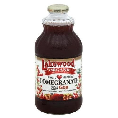 Lakewood Pomegranate W/Goji, Heart Healthy, 32-Ounce (Pack of 12)