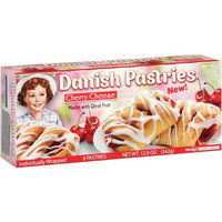 Little Debbie Snacks Cherry Cheese Danish Pastries, 6 count