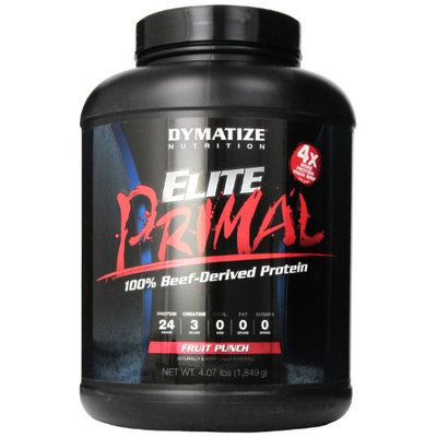 Dymatize Elite Primal Diet Supplement, Fruit Punch, 4.1 Pound
