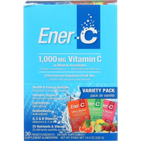 Enerc Ener-C - Vitamin C Effervescent Powdered Drink Mix Variety Pack 1000 mg. - 30 Packets