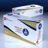 Dynarex 2614 Safe-Touch Vinyl Exam Glove Powder Free X-Large 10/100/Case