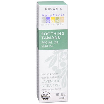 Aura Cacia Soothing Tamanu Facial Oil Serum Lavender & Tea Tree