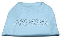 Mirage Pet Products 5274 XXXLBBL Beach Sandals Rhinestone Shirt Baby Blue XXXL 20