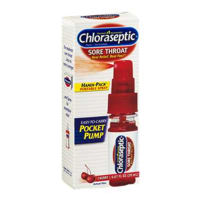 Chloraseptic Sore Throat Portable Spray Cherry