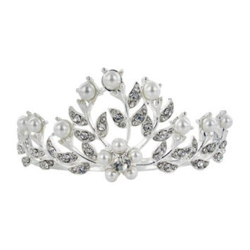 Social Gallery by Roman Pearls & Crystals Hair-Comb - Clear/White