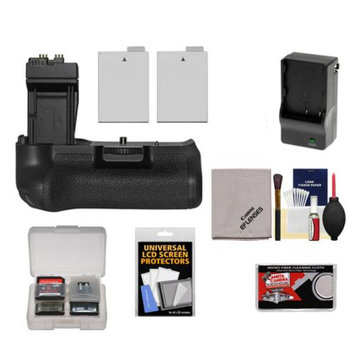 Zeikos BG-E8 Battery Grip for Canon EOS Rebel T2i, T3i, T4i & T5i Digital SLR Camera with 2 LP-E8 Batteries + Charger + Accessory Kit