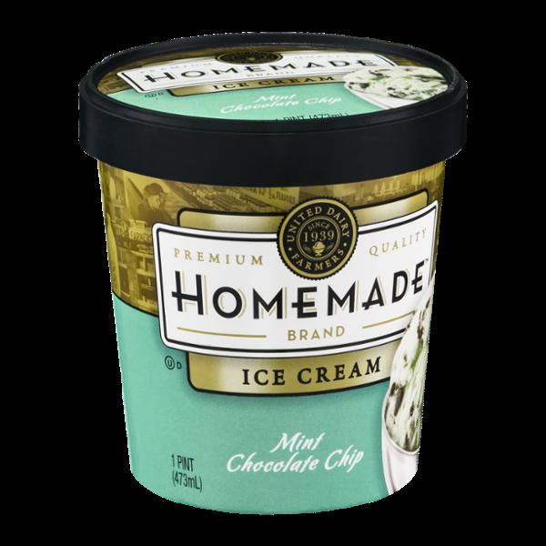 Homemade Ice Cream Mint Chocolate Chip