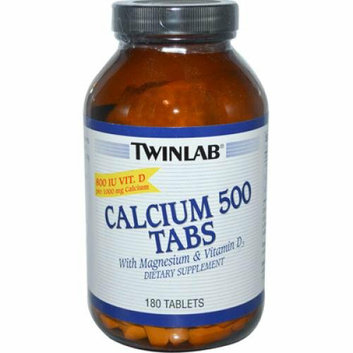 Twinlab Calcium 500 Tabs 180 Tablets