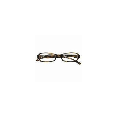 Zoom Reader Reading Eyewear 3/4-Eye Plastic Rectangular Frame with Scalloped temples in Tortoise, +2.50