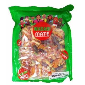 Shirakiku Rice Cracker Wasabi Mate, 16-Ounce Units (Pack of 5)