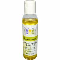 Aura Cacia Aromatherapy Body Oil Relaxation Tangy Citrus Aroma 4 fl oz