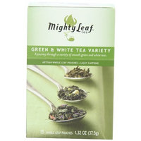 Mighty Leaf Tea Green & White Variety, 15-Count Whole Leaf Pouches (Pack of 3)
