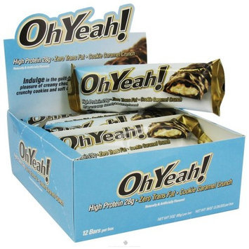 ISS Research - OhYeah High Protein Bar Cookie Caramel Crunch - 3 oz.