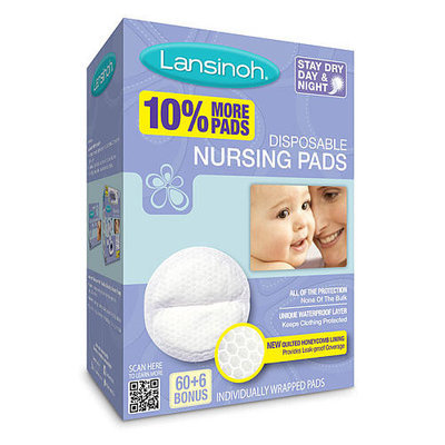 Lansinoh Laboratorie Lansinoh Disposable Nursing Pad 60 Count + 6 Count Bonus Pack - 66 Count Total
